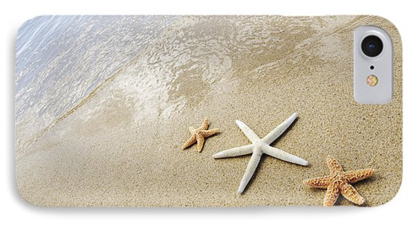 Seastars On Beach Phone Case by Mary Van de Ven - Printscapes