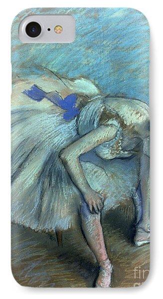 Seated Dancer IPhone Case by Edgar Degas