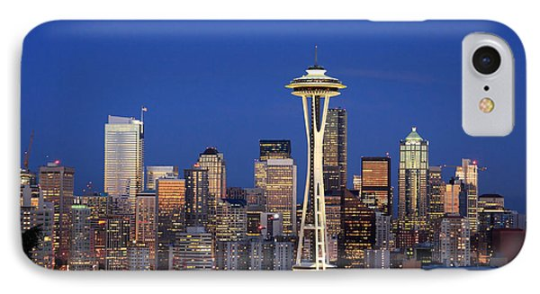 Seattle At Dusk IPhone Case by Adam Romanowicz