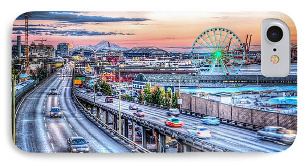 Seattle At Twilight IPhone Case by Spencer McDonald