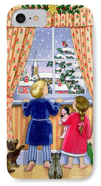 Seeing The Snow Phone Case by Lavinia Hamer
