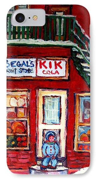 Segal's Market St.lawrence Boulevard Montreal Phone Case by Carole Spandau