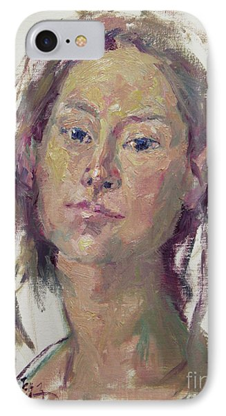 Self Portrait 1602 IPhone Case by Becky Kim