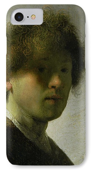 Self Portrait As A Young Man IPhone Case by Rembrandt