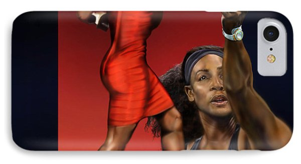 Sensuality Under Extreme Power - Serena The Shape Of Things To Come IPhone 7 Case by Reggie Duffie