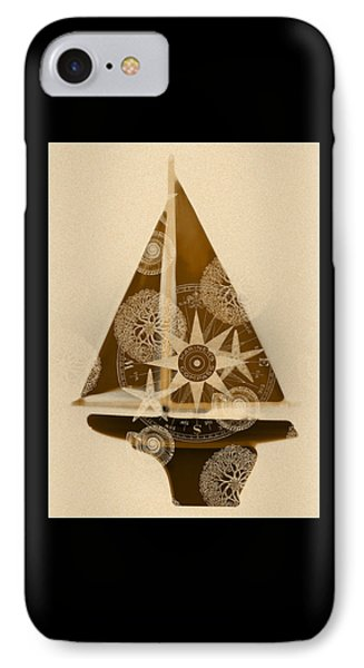 Sepia Boat IPhone Case by Frank Tschakert