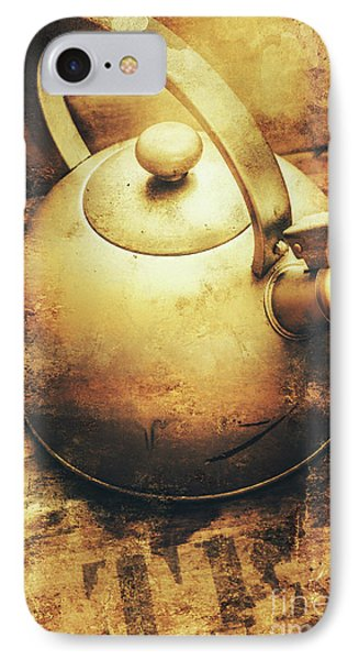 Sepia Toned Old Vintage Domed Kettle IPhone Case by Jorgo Photography - Wall Art Gallery