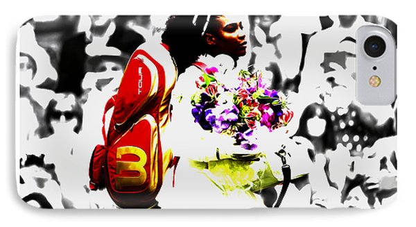 Serena Williams 2f IPhone Case by Brian Reaves