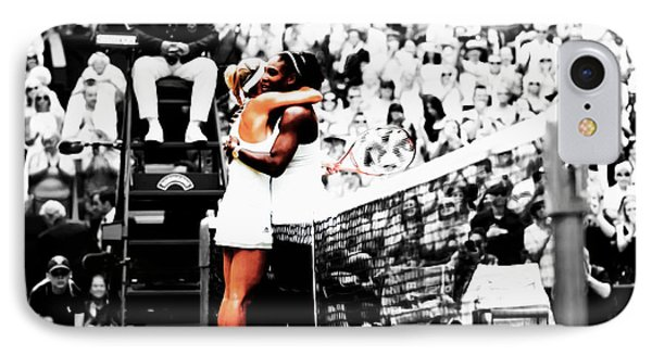Serena Williams And Angelique Kerber 1a IPhone 7 Case by Brian Reaves