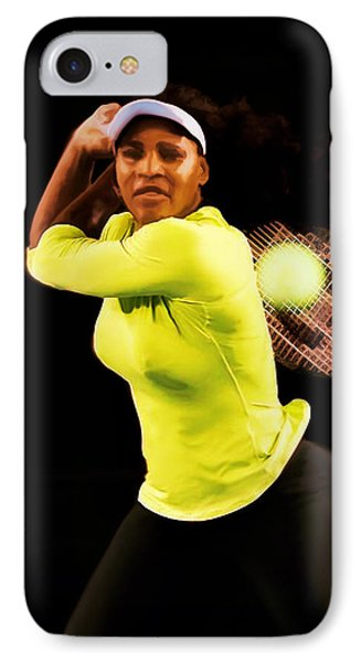 Serena Williams Bamm IPhone Case by Brian Reaves