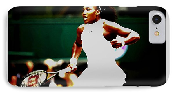 Serena Williams Making History IPhone Case by Brian Reaves
