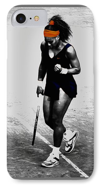Serena Williams Match Point 3a IPhone Case by Brian Reaves