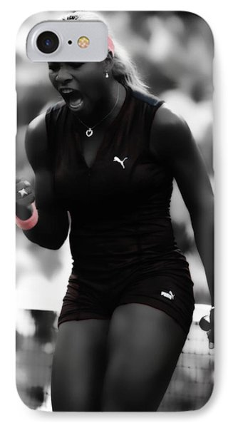 Serena Williams On Fire IPhone 7 Case by Brian Reaves