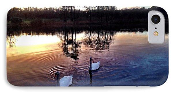 Serene Swans IPhone Case by Elizabeth Wuebker