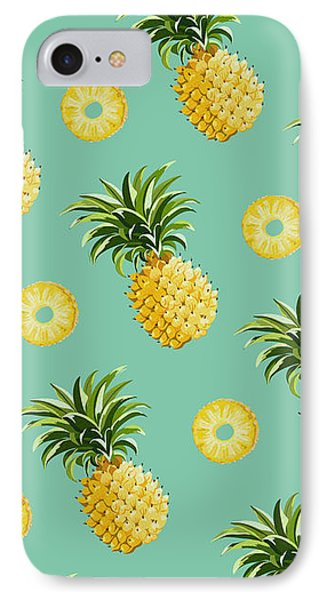 Set Of Pineapples IPhone Case by Vitor Costa