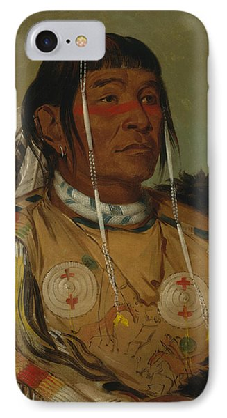 Sha-co-pay, The Six, Chief Of The Plains Ojibwa IPhone Case by George Catlin