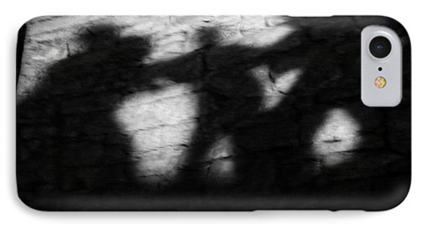 Shadows On The Wall Of Edinburgh Castle  Phone Case by Christine Till