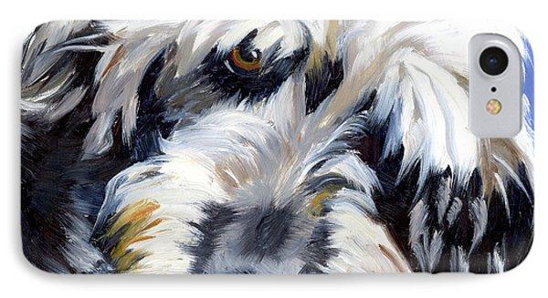 Shaggy Dog Portrait IPhone Case by Alice Leggett