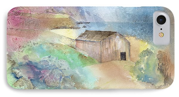 Shed By A Lake In Ireland Phone Case by Arline Wagner