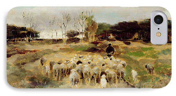 Sheep Flock IPhone Case by Anton Mauve