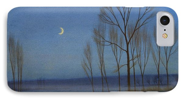 Shepherd And Sheep At Moonlight IPhone Case by OB Morgan