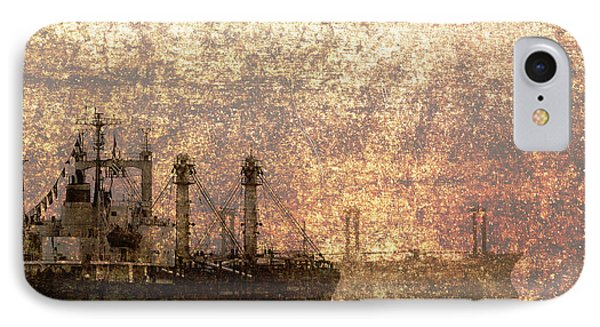 Ship At Anchor IPhone Case by Skip Nall