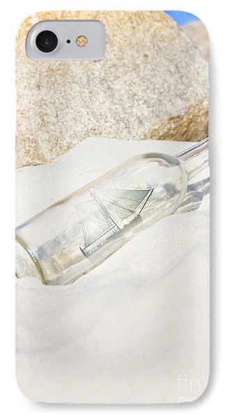 Ship In Bottle IPhone Case by Jorgo Photography - Wall Art Gallery