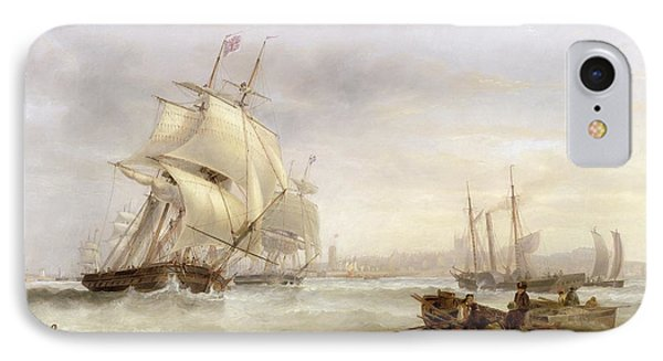 Shipping Off Hartlepool IPhone Case by John Wilson Carmichael