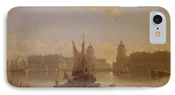 Shipping On The Thames At Greenwich IPhone Case by David Roberts
