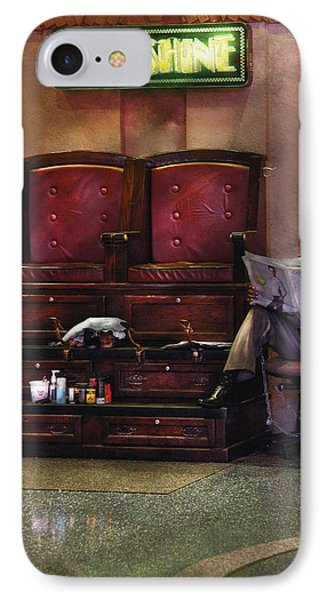 Shoes - Lee's Shoe Shine Stand Phone Case by Mike Savad
