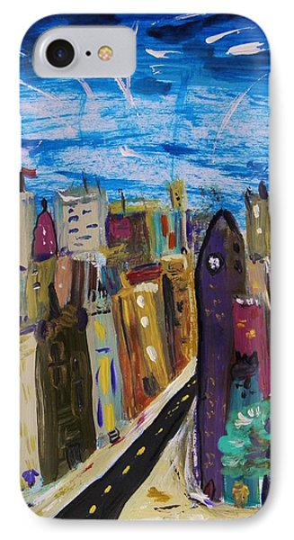 Shooting Stars Over Old City Phone Case by Mary Carol Williams