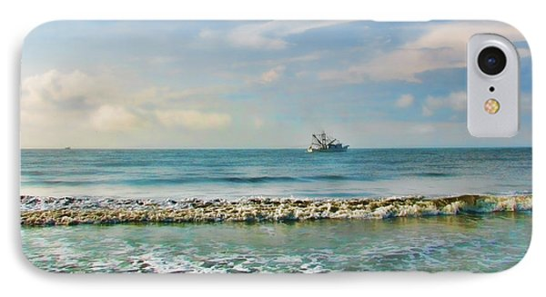 Shrimp Boat Off Kiawah IPhone Case by Amy Tyler