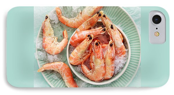 Shrimp On A Plate IPhone 7 Case by Anfisa Kameneva