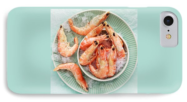 Shrimp On A Plate IPhone Case by Anfisa Kameneva