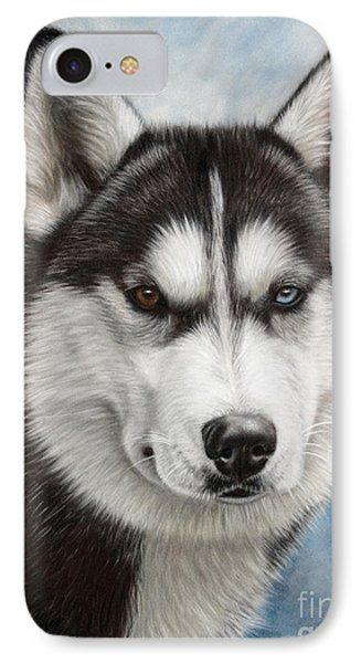 Siberian Husky IPhone Case by Tobiasz Stefaniak