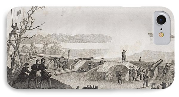 Siege Of Yorktown Virginia 1862. Drawn IPhone Case by Vintage Design Pics
