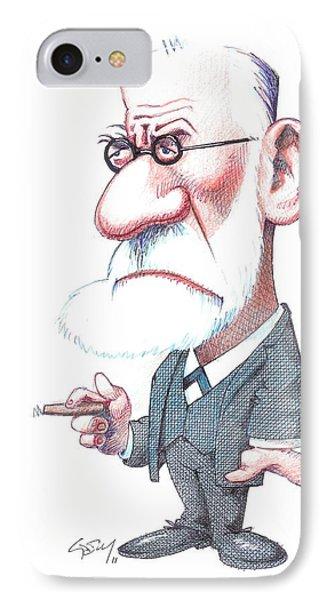 Sigmund Freud, Caricature Phone Case by Gary Brown