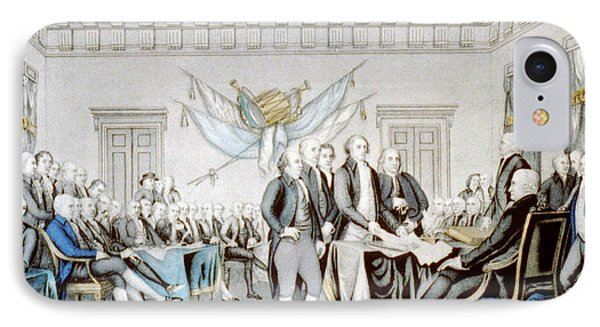 Signing The Declaration Of Independence IPhone Case by American School