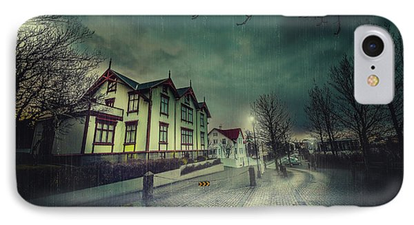 Silent Night Street IPhone Case by Svetlana Sewell