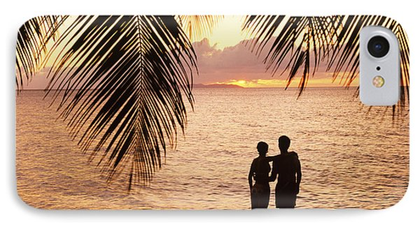 Silhouetted Couple Phone Case by Larry Dale Gordon - Printscapes