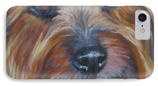 Silky Terrier Phone Case by Lee Ann Shepard