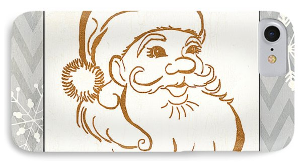Silver And Gold Santa IPhone Case by Debbie DeWitt