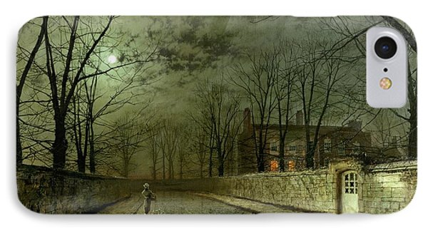 Silver Moonlight IPhone Case by John Atkinson Grimshaw
