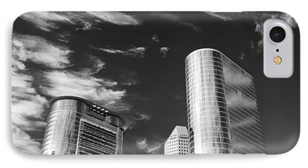 Silver Towers IPhone Case by Dave Bowman