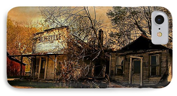 Silverville Ghost Town In Browns IPhone Case by Julie Dant