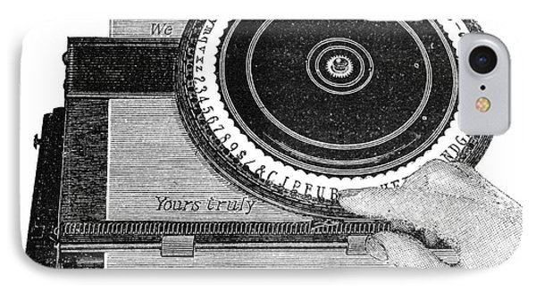 Simplex Typewriter, Early 20th Century IPhone Case by Spl