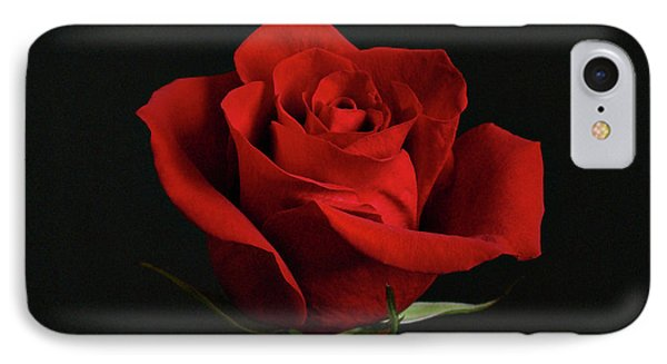 Simply Red Rose Phone Case by Sandy Keeton