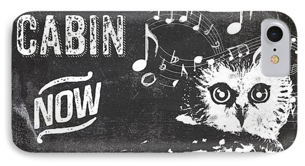 Singing Owl Cabin Rustic Sign IPhone 7 Case by Mindy Sommers