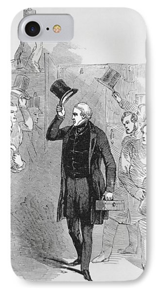 Sir Robert Peel Arriving At The House Of Commons IPhone Case by English School