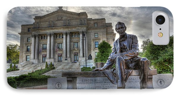 Sit With Me - Seated Lincoln Memorial By Gutzon Borglum  Phone Case by Lee Dos Santos
